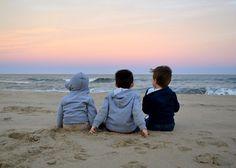 Kids + Beach + Sunset = Perfection