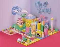 maqueta, colores, juguete, 3d