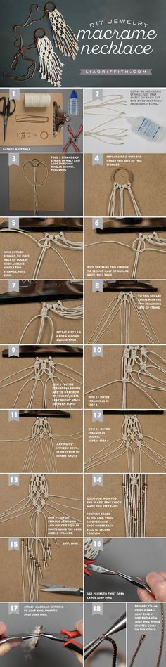 Handcrafted lifestyle expert Lia Griffith shares this easy step-by-step photo tutorial to craft a trendy DIY macrame necklace to pair with summer outfits!