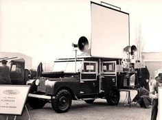 Land Rover S1 107 LWB Station Wagon Mobile Cinema.