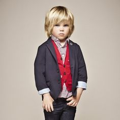 little boys in blazers and jeans <3
