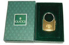 Vintage Gold Tone Logo Key Chain Fob by Gucci by VintageMeetModern, $115.00