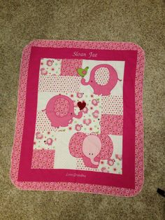 A personal favorite from my Etsy shop https://www.etsy.com/listing/178329676/pink-elephant-flannel-personalized