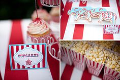 My dear friend, Beckie Winston had a circus themed party for her darling daughter. Everything to cupcakes and elephant cookies to red and white stripes decor.  Amy Atlas (!) posted it to her blog!  Congrats Beckie!!!!!