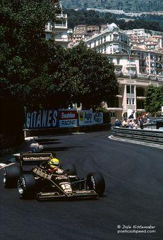 Ayrton Senna su Lotus GP Monaco