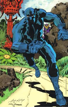 Black Panther by Jack Kirby & Dick Giordano Black Panther Images, Black Panther Storm, Black Panther Art, Black Panther Marvel, Comic Book Artists, Comic Book Heroes, Comic Artist, Comic Books Art, Comic Superheroes