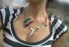 """Collares medianos - Collar con ilustración. """"Le Soleil"""" En la hamaca. - hecho a mano por Conldelola en DaWanda"""