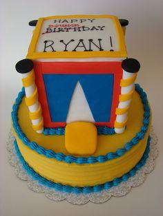 Bounce House Birthday Cake Www Simplycakesbyalison Com