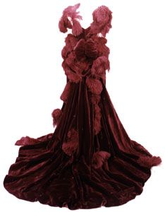 The Burgundy Ball Gown: Back  American Civil War (1861-1865)  Gone with the Wind dresses