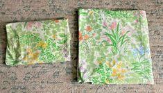 Vintage Lady Pepperell TUDOR GARDEN Floral Fitted & Flat Full Bed Sheet Set #Pepperell Bed Sheet Sets, Bed Sheets, Vintage Bedding, Full Bed, Tudor, Vintage Ladies, Flat, Garden, Bass