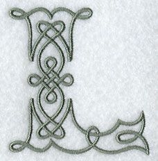 papercraft #typefaces #fonts J Celtic knot-work letter ...