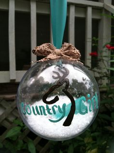 Browning Country Girl Ornament