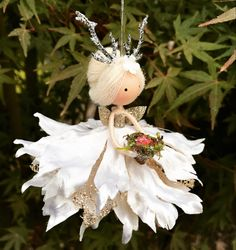 Christmas Fairy, Christmas Crafts For Kids, Christmas Projects, Felt Decorations, Halloween Decorations, Christmas Decorations, Christmas Ornaments, Festive Crafts, Diy Holiday Gifts