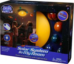 Remote Controlled Solar System Mobile Motorized Planets with Light-up Sun