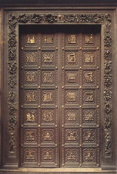 The Baptistery of St. John boasts the famous bronze doors Michelangelo dubbed \
