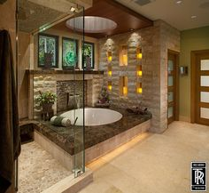 Love the shower flooring!