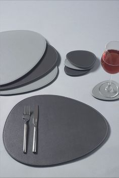 Buy Set of 4 Reversible Pebble Placemats And Coasters from the Next UK online shop Leather Coasters, Diy Crafts Hacks, Office Set, Leather Pattern, Home Design Decor, Kitchen Collection, Leather Projects, Leather Accessories, Leather Craft
