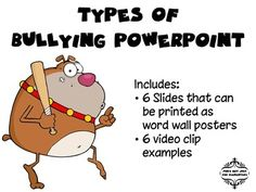 Social Skills Activities: Bullying Facts and Vocabulary ...