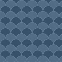 Denim Scallops contact paper / shelf liner. This scallop pattern features shades of dark and medium blue.