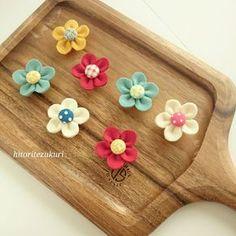 作り方~フェルトお花のマグネット~ | ひとり手作り子育て部。×hana no tane
