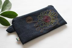 Case embroidered pencil case cosmetic bag by kleidzeit-mini purse mini bag unique gifts for women makeup bag #Etsy #Share #EtsyShop Shared by #BaliTribalJewelry http://etsy.me/1sDZ302