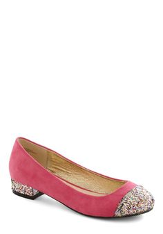 $35 - Glitter to the Greek Flat - Modcloth -- I just want to wear these all the time.