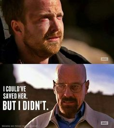My heart broke for Jesse when this happened. As soon as he went limp I cried. I hated Walt for this. I felt so bad for Jesse getting caught up in this. Yes he could've stopped in season one or two but after that he couldn't escape. I was so happy when he got away.