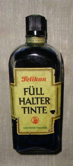 alt PelikanTintenflasche*Tinte f.Federhalter*königsblau*Permanent*1L.Flasche*top | eBay