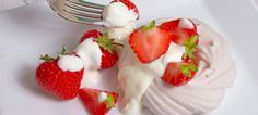 Ginger Cream Meringue - Strawberries and cream with a difference.  For the full recipe go to: http://www.takestockmagazine.com/recipes/ginger-cream-meringue-with-spiced-rhubarb-compote/