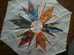 my version of the origami crane quilt block