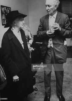 author-robert-graves-talking-with-poet-marianne-moore-during-campaign