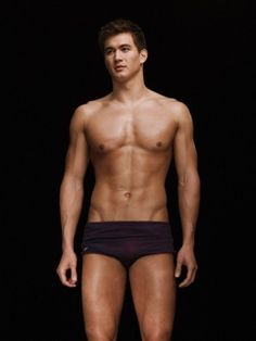 Nathan Adrian - how cute is he?? And he adds some diversity as he's half Chinese, half Caucasian
