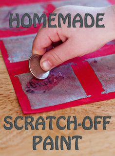 make your own scratch off paint! Great for whole class incentives. When the class is doing great, a student could come and scratch a square off! It could reveal extra recess, or lunch in classroom, ect...