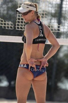 Real inspiration — Athletes not Models — Sara Goller: Beach Volleyball who has a real body. I love this!