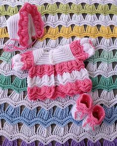 Picture of Victorian Ripple Baby Layette Crochet Pattern