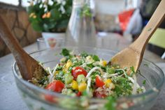 Tabbouleh with Quinoa- A Vegan Approach to Lunch // via localbelle.com