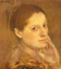 Isabel Bishop (auto-portrait) - 1902-1988 - Peintresse américaine - Exposition permanente au Boca Raton Museum of Art Floride.
