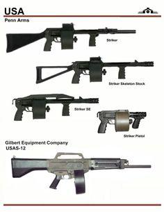 Penn Arms Striker and USAS-12