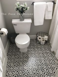 Easily transform the look of a room for around $100 using the Cutting Edge Stencils Augusta Tile Stencil for Painting Linoleum Floors, Tile, Concrete and Cement.