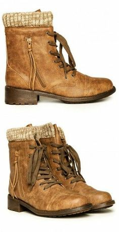 Sweater boots...if they just had my size I would buy these!