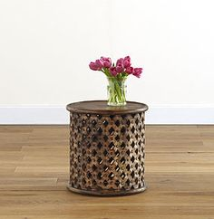 STOOLS & SIDE TABLES | The TOTEFISH Blog.  Tribal Carved Wood Accent Stool