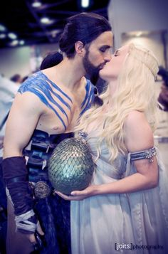 Khal Drogo and Daenerys, Game of Thrones cosplay.
