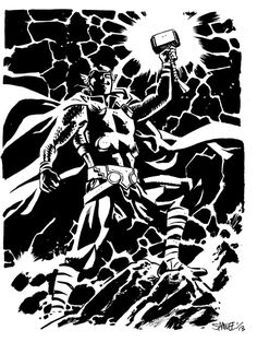 How I miss Thor: the Mighty Avenger :( Art by Chris Samnee (currently working on Daredevil, I think)