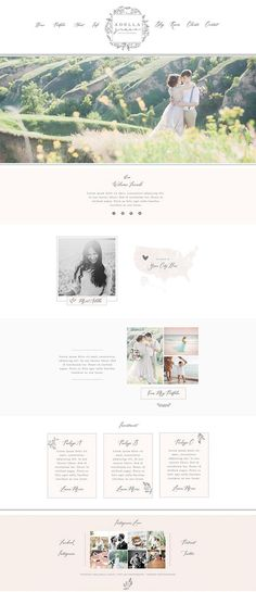Wix Website design website template photography logo clean