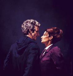 The 12th Doctor And Missy - ''Closer'' by luluha (deviantART) -- Doctor Who.S09E01E02 - ''The Magician's Apprentice'' and ''The Witch's Familiar'' (Doctor Who - BBC Series)  source: http://luluha.deviantart.com/art/Closer-560502877