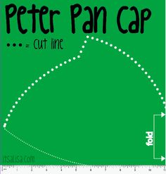 Peter Pan Hat pattern for Peter Pan Halloween Costume. easy Felt craft DIY. itsaLisa.com