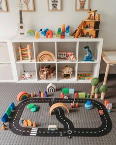 By far one of Elijah's favourite Christmas presents has been these awesome road tracks by which I got from… playroom