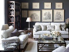 10 Timely Clever Tips: Living Room Remodel On A Budget Thrift Stores living room remodel with fireplace mantles.Living Room Remodel On A Budget Fractions living room remodel ideas tiny house.Living Room Remodel On A Budget Fractions. Coastal Living Rooms, Living Room Grey, Home And Living, Living Spaces, Small Living, Dark Grey Rooms, Dark Grey Walls, Blue Walls, Sofa Design