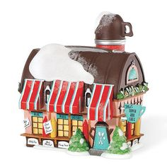 This item is Dept. 56 Lunch Box Café from North Pole series. I have opened for pictures and inspection only.