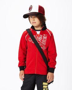 ADIDAS KIDS レッド×ブラック  ビッグロゴスウェットジャケット - ファミリーセールなら、グラムール セールス